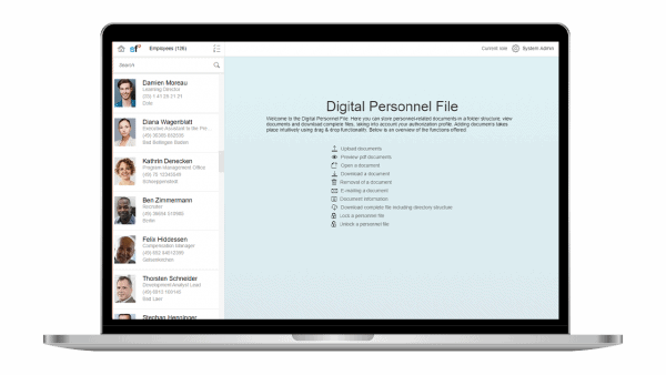 Digital Personnel file SAP SuccessFactors